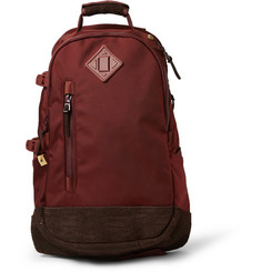 Visvim Ballistic Canvas and Leather Backpack