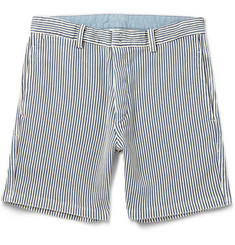 Visvim Slim-Fit Striped Woven-Cotton Shorts