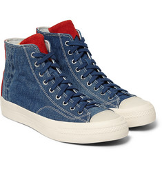 Visvim Skagway Denim and Suede Sneakers