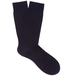 Pantherella Polka-Dot Cotton-Blend Socks