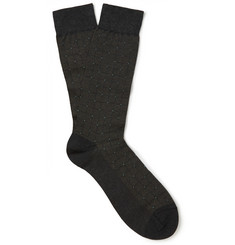 Pantherella Putney Patterned Cotton-Blend Socks