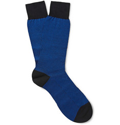 Pantherella Aldgate Geometric-Patterned Cotton-Blend Socks