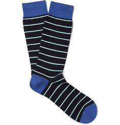 Pantherella St Ives Striped Cotton-Blend Socks