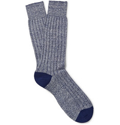 Pantherella Hamada Linen and Cotton-Blend Socks