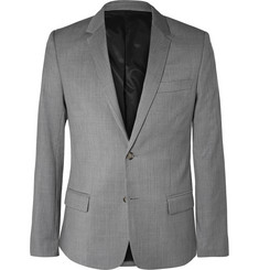 AMI Grey Slim-Fit Wool Suit Jacket