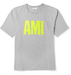 AMI Printed Cotton T-Shirt