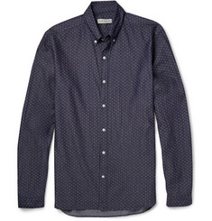Oliver Spencer Denim Jacquard Shirt