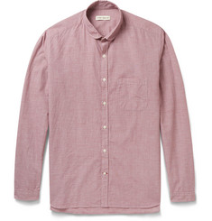 Oliver Spencer Checked Cotton and Linen-Blend Shirt