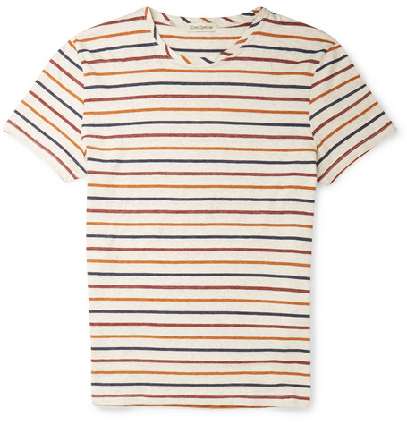 Oliver Spencer Striped Cotton-Jersey T-Shirt