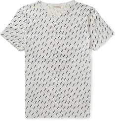 Oliver Spencer Printed Cotton-Jersey T-Shirt