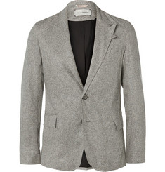 Oliver Spencer Grey Brookes Woven-Silk Suit Jacket