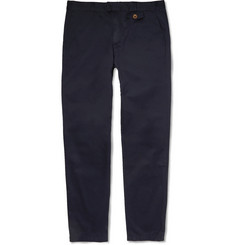 Oliver Spencer Fishtail Slim-Fit Cotton Trousers