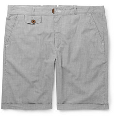 Oliver Spencer Striped Linen and Cotton-Blend Shorts