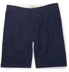 Oliver Spencer Linen and Cotton-Blend Shorts