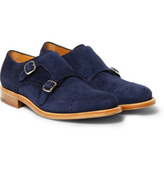 O'Keeffe Bristol Suede Monk-Strap Shoes