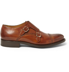O'Keeffe Manach Leather Monk-Strap Shoes