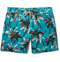 M.Nii Cocoa Palms Printed Cotton-Canvas Mid-Length Swim Shorts