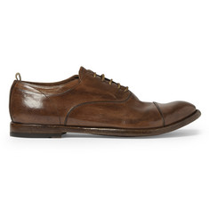 Officine Creative Anatomia Washed-Leather Derby Shoes