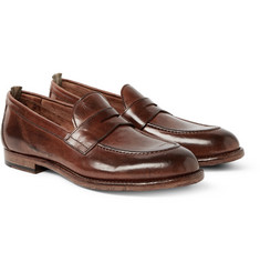 Officine Creative Ivy Washed-Leather Penny Loafers