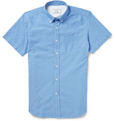 Officine Generale Polka-Dot Cotton Shirt