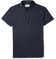 Officine Generale Garment-Dyed Cotton Polo Shirt