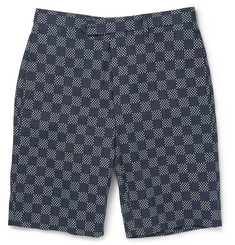 Officine Generale Embroidered Cotton Shorts