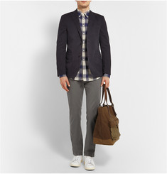Officine Generale Garment-Dyed Washed-Cotton Trousers