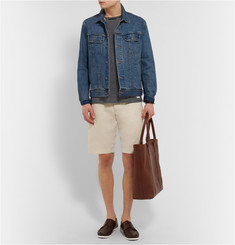 Officine Generale Luco Garment-Dyed Cotton Shorts