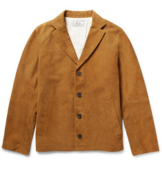 Officine Generale Slim-Fit Suede Jacket