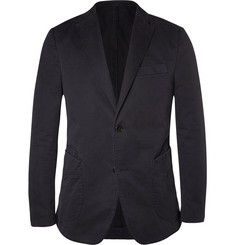 Officine Generale Navy Unstructured Cotton-Twill Blazer