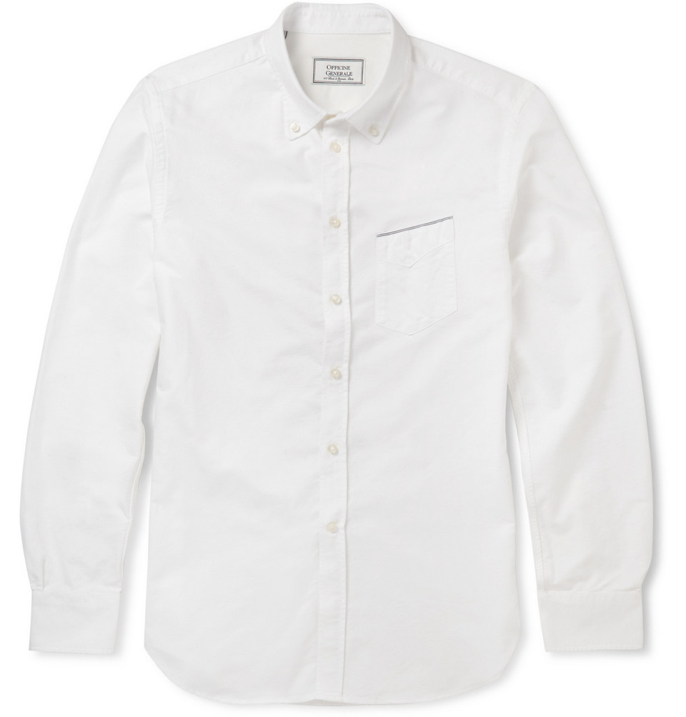 Officine Generale Cotton Oxford Shirt
