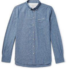 Officine Generale Japanese Chambray-Cotton Shirt