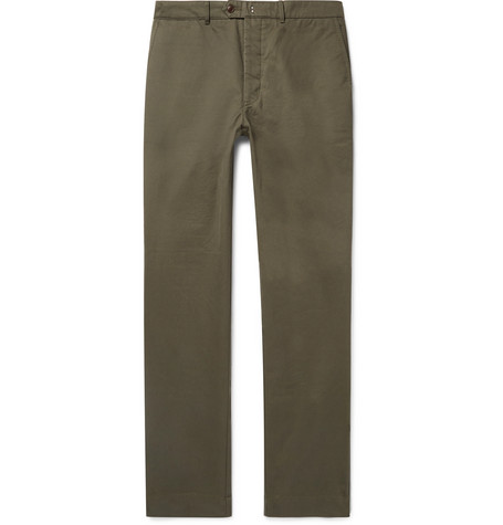 New Fisherman Cotton-twill Chinos - Green