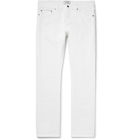 Officine Generale Slim-fit Denim Jeans   In White