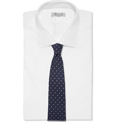 Paul Smith Shoes & Accessories Dot-Patterned Linen, Cotton and Silk-Blend Tie