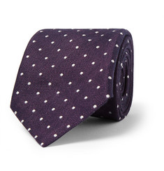 Paul Smith Shoes & Accessories Dot-Embroidered Linen and Cotton-Blend Tie