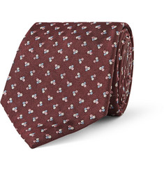 Paul Smith Shoes & Accessories Embroidered Silk-Faille Tie