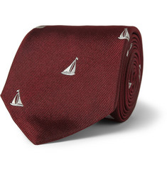 Paul Smith Shoes & Accessories Embroidered Silk Tie