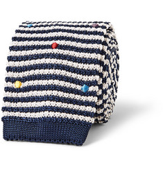 Paul Smith Shoes & Accessories Dotted Knitted Silk Tie