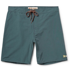 Mollusk Pennant Cotton-Blend Swim Shorts