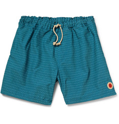 Mollusk Vacation Patterned Cotton-Blend Swim Shorts