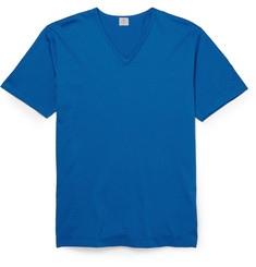 Sunspel V-Neck Cotton-Jersey T-Shirt