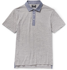 Todd Snyder Chambray-Trimmed Cotton-Jersey Polo Shirt