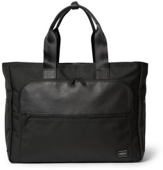Porter-Yoshida & Co Leather-Trimmed Piqué Tote