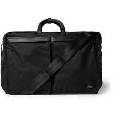 Porter-Yoshida & Co Leather-Trimmed Woven Nylon Canvas Holdall Bag