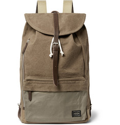 Porter-Yoshida & Co Leather-Trimmed Canvas Backpack