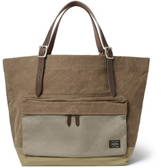 Porter-Yoshida & Co Leather-Trimmed Canvas Tote Bag