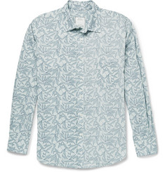 Billy Reid Leaf-Print Cotton-Blend Shirt