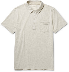 Billy Reid Pensacola Marled Cotton-Blend Jersey Polo Shirt