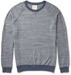 Billy Reid Marled Cotton and Wool-Blend Sweater